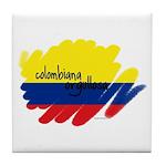 Colombiana Orgullosa Tile Coaster