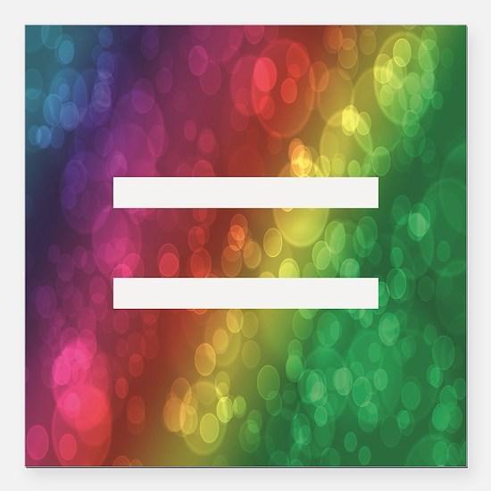 "Equalrights1 Square Car Magnet 3"" x 3"""
