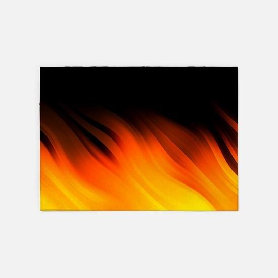 Flames 5'x7'Area Rug