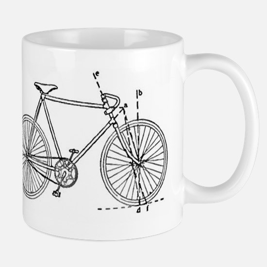 Bicycle Blueprint Mug