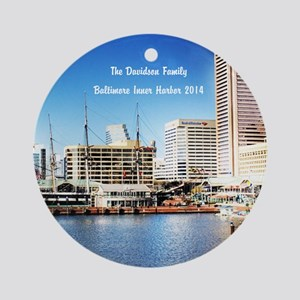 Personalized Baltimore Inner Ornament (round)