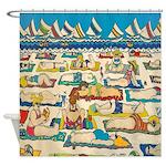 Colorful Whimsical Beach Shower Curtain