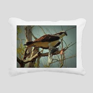 Osprey Having Lunch Rectangular Canvas Pillow