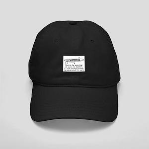 Vintage Weaving Shuttle Diagr Black Cap