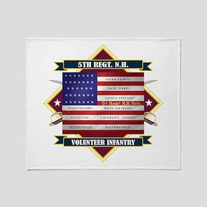 5th New Hampshire Volunteer Infantry Throw Blanket