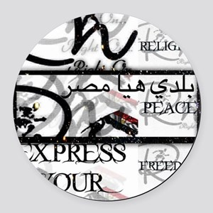 RightOn Egypt Round Car Magnet
