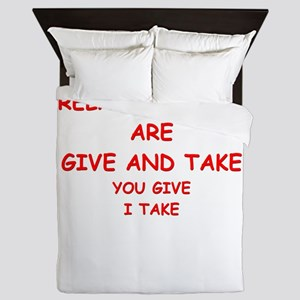 give and take Queen Duvet