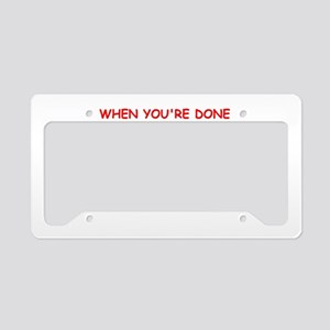 therapy License Plate Holder