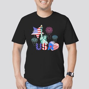 USA Men's Fitted T-Shirt (dark)