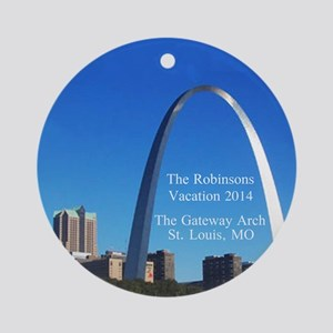 Personalized Gateway Arch St. Ornament (round)