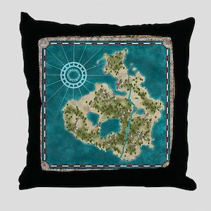 Pirate Adventure Map Throw Pillow