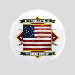 "17th Michigan Volunteer Infantry 3.5"" Button"