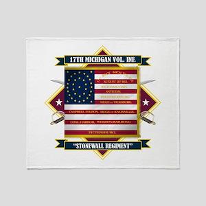 17th Michigan Volunteer Infantry Throw Blanket