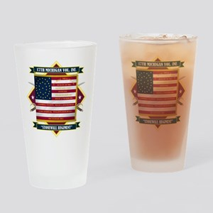 17th Michigan Volunteer Infantry Drinking Glass