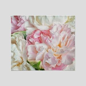 Blooming Peonies Throw Blanket