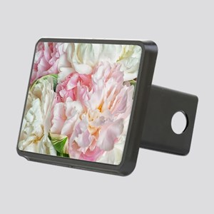 Blooming Peonies Rectangular Hitch Cover