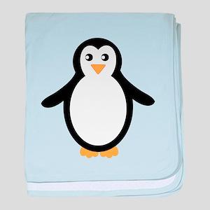Black and White Penguin baby blanket