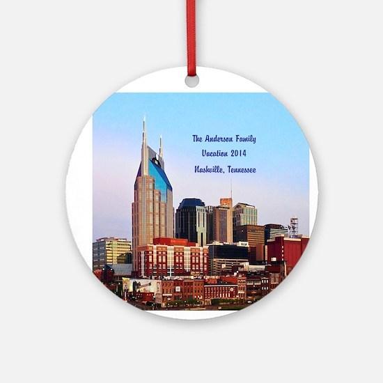 Personalized Nashville, Tn Ornament (round)