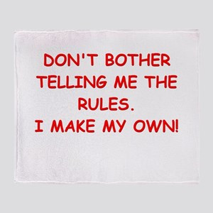 rules Throw Blanket