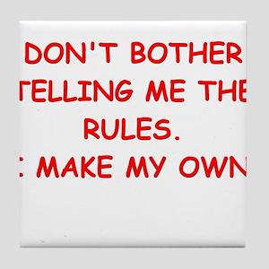 rules Tile Coaster