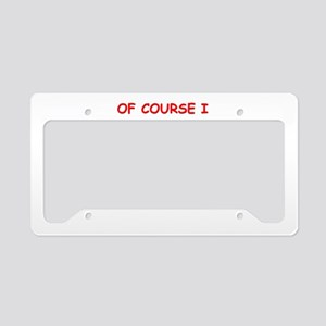 past License Plate Holder