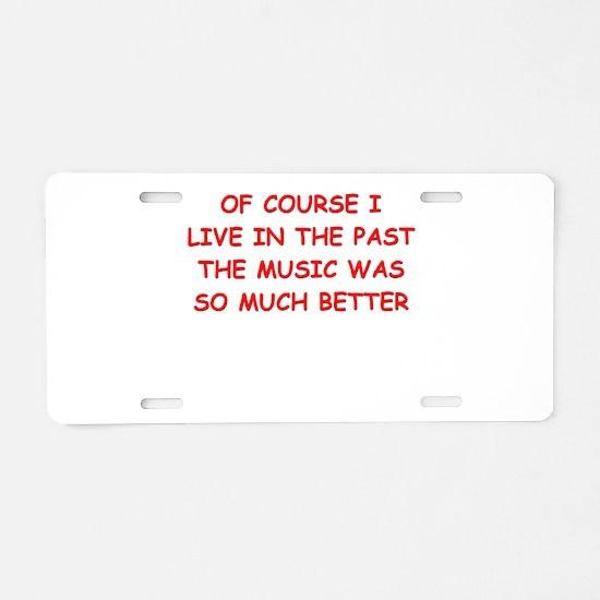 past Aluminum License Plate