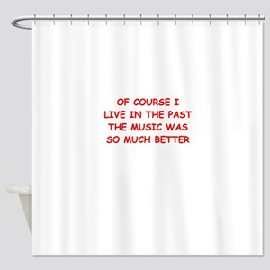past Shower Curtain