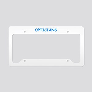 optician License Plate Holder