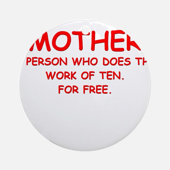 mother Ornament (Round)