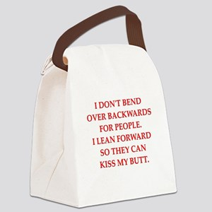 kiss my Canvas Lunch Bag