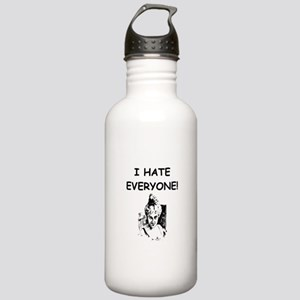 i hate everyone Water Bottle