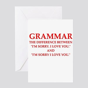 grammar Greeting Cards