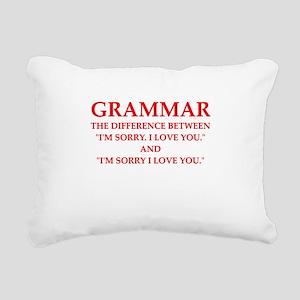 grammar Rectangular Canvas Pillow