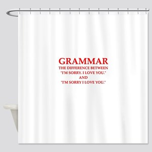grammar Shower Curtain
