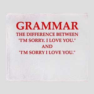 grammar Throw Blanket