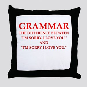 grammar Throw Pillow