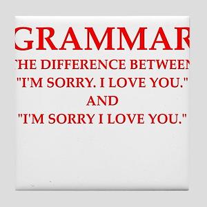 grammar Tile Coaster