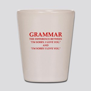 grammar Shot Glass