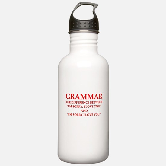 grammar Water Bottle