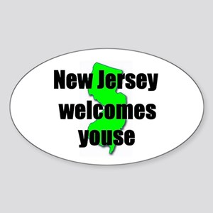 New Jersey Welcome Oval Sticker