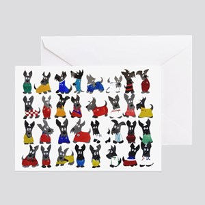 Scottie Dog 'World Cup' Greeting Card