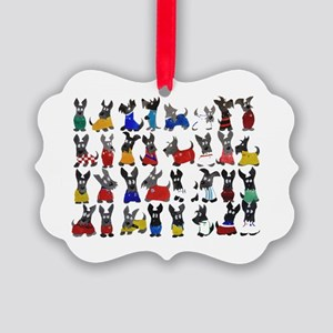 Scottie Dog 'World Cup' Picture Ornament