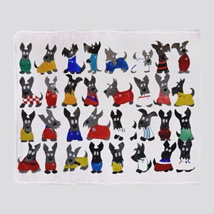 Scottie Dog 'World Cup' Throw Blanket