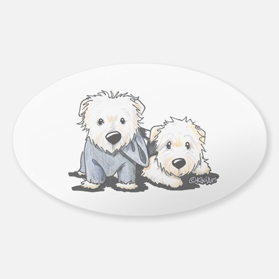 Griffin and Winston Sticker (Oval)