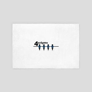Back four 4' x 6' Rug