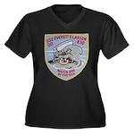 USS EVERETT Women's Plus Size V-Neck Dark T-Shirt