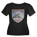 USS EVER Women's Plus Size Scoop Neck Dark T-Shirt