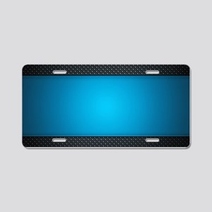 Abstract Aluminum License Plate