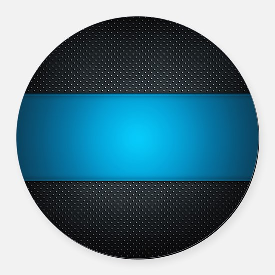 Abstract Round Car Magnet