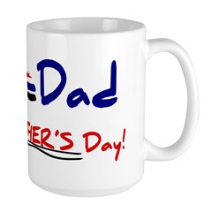 Happy Father's Day Step-Dad 1 - Large Mug Mugs